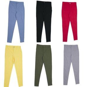 Tozluklar İnce Yüksek Bel Stretch Kalem Pantolon Sıkı Şeker Renk Jeans Kadın Kadın Jeans 201022