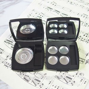 20pcs lot Matte Black Empty Single Color Eyeshadow Powder Case with Mirror, High Class Frosted Blush Compacts Brush