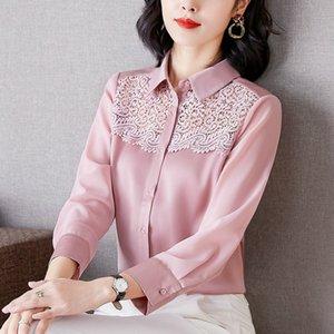 Lace Hollow Shirt Long Sleeve Women's Blouse Hot Sale Spring Autumn Quality Goods Shirt Fashion Elegant Ladies Blouse Chiffon Shirt