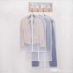 100pcs Cloth Dustproof Cover Garment Organizer Suit Dress Jacket Clothes Protector Pouch Travel Storage Bag With Zipper Wholesale