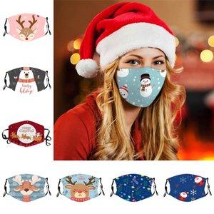 Masque Big Kids visage de Noël réutilisable Lavable étudiants Visage Couverture respirante Masques pour les garçons à la poussière et les jeunes filles KKA1844