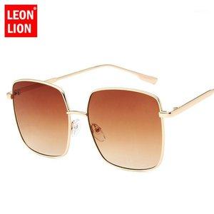 Léonlion 2020 New Square Ocean Lens Lunettes de soleil Femmes Vintage Shopping Couleurs Couleurs Lunette Shopping de Soleil Femme UV4001