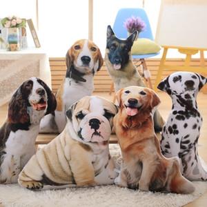 Lrea nouveaux cojines peluche jouet mignon expression simulation chien oreiller chambre canapé décorations coussins 201009