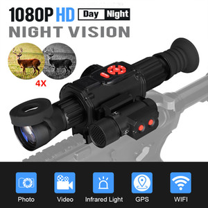 Iluminador Eagleeye HD 4X Day Night Night Vision Sxope Noite Digital Vision Monocular Com IR850 Infra-Vermelho para CL27-0030