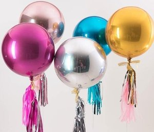 4D 22inch rotonda di alluminio Balloons metallo Palloncino decorazione di cerimonia festa di compleanno per il neonato