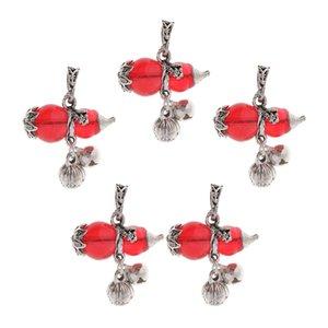 5 piezas de forma de los encantos de imitación Zirco calabaza colgante para la joyería que hace bricolaje Collar