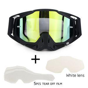 Insiemi 100% MX Dirt Bike Googles Moto Occhiali Occhiali antipolvere Occhiali antivento ATV Motocross Occhiali
