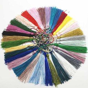 32 unids poliéster 13 cm borlas de seda franja tasseles colgando cortinas mezclar la selección para la decoración de costura DIY Jewelry Fabricación de 32 colores H jllyra
