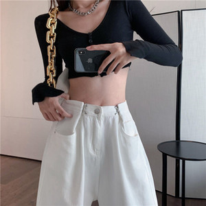 High Waist Black for Women Fashion Wise Pipes Denim Street Wear Vintage Mom Jeans Harajuku Friend Right Jacket