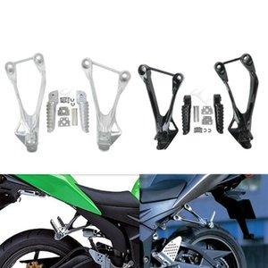 Pasajero trasero de la motocicleta clavijas del pie Resto soporte para Ninja ZX6R ZX636 2005-2006 2005-2008 05 06 07 08