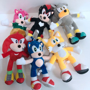 20cm Sonic Plush Keychain Doll Toys Black Blue Yellow Sonic Plush Soft Stuffed Plush Toy Hot Game Doll for Children Christmas Gifts