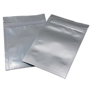 100 pz 2 stili di plastica Polist Pure Alluminio Lock Zip Blocco Confezionamento Confezione Mylar Snack Sundries Zipper Decoration Bag Grocery Comfort Sacchetto H Bbyejr