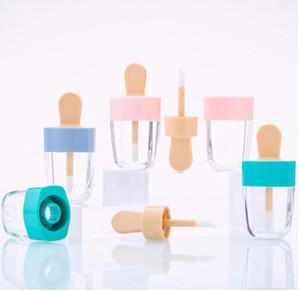 10 30 50pcs Lip Gloss Bottle Lip Glaze Tube Empty Pink Ice Cream Lipgloss Tube Packaging Material Makeup DIY Lip Glaze 201013
