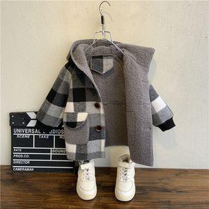 fall Winter Fleece Jackets For Boy Trench Children's Clothing 2-10Y Hooded Warm Outerwear Windbreaker Baby Kids Coats Y200901