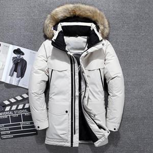 Men's Down & Parkas 2021 -40 Degrees Top Quality White Duck Jacket Men Thick Winter Big Fur Collar Warm Parka Waterproof Windproof