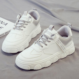 2021 Fashion women running shoes trainers shadow Flat Thick bottom Triple White pink green grey Lightweight outdoor sneakers great quality