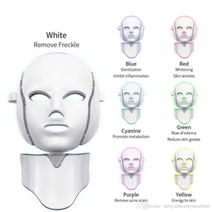 2020 new 7 Colors Led Photon Electric LED Facial Mask with Neck Skin Rejuvenation Anti Wrinkle Acne Photon Therapy Skin Care Beauty Mask