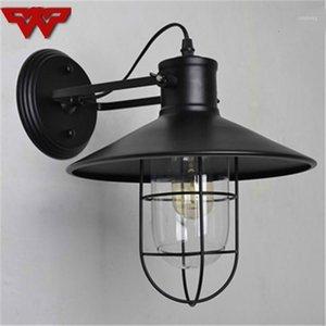 American Antique Lâmpada de Parede Simples Personalidade Criativa Lâmpada de Parede Ao Ar Livre Estilo Europeu Estilo Industrial Bedroom Lamps1