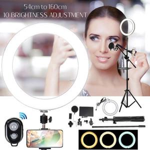 스탠드가있는 링 라이트 삼각대 스탠드 8pcs / 세트 Bluetooth Selfie Shuttercamera Selfie Light Ring YouTube 메이크업 비디오 라이브 사진 1