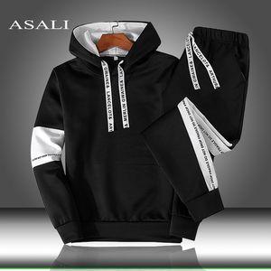Men Women Hoodie Sweatshirt Pullover Hooded Sets Sport Suit Tracksuit 2 Piece Hoodies & Sweatpants Autumn Winter Mens Clothing