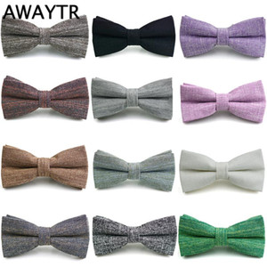 AWAYTR Bow Tie for Men Women Fashion Neckwear Wedding Party Casual Dress Accessories Black Gray Colors Bow Ties