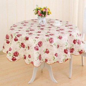 Домашний декор 152см Пасторальный флизный круглый пикник для пикника Водонепроницаемая нефтяная скатерть домашнее стол Крышка настольная ткань