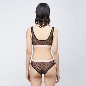 Mulheres Não Trace Sexy Lingerie Luxo Jacquard Knickers Bras Define Letra de Moda Imprimir Senhoras Senhoras Set