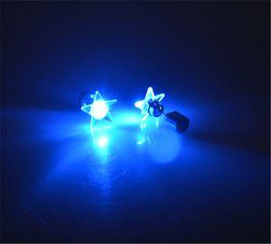 Stud Earrings Wholesale Charming LED Crown Glowing Crystal Stainless Stud Earring Jewelry Beautifully Channel Earrings