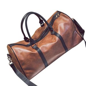 Leather Outdoor Large Gym Duffel Bag Travel Weekend Overnight Luggage Carry,#1 Brown(Pu Leatther)