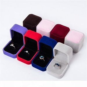 Ring Boxes Earring Pendant Jewelry Holder Storage Case Gift Packing Box for Wedding Square Show Cases