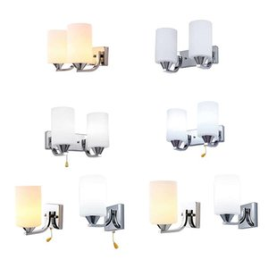 Modern GL LED Light Wall Sconce Lamp Lampada Lampada L'apparecchio da camera da letto indoor