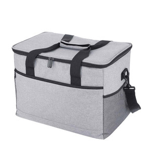 17L 33L Picnic Bag Big Capacity Insulated Cooler Bag Meal Lunch Container Oxford Cloth Waterproof Ice Pack Outdoor Activities