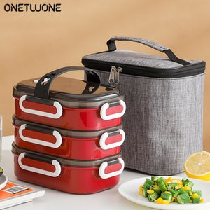 Bento Box Sealed Stainless Steel Lunch Box 2 3 4 Layer Food Container Storage Lunch Box Y0120
