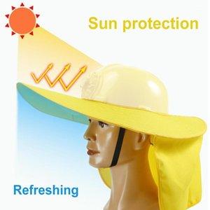 سلامة البناء قبعة قناع الشمس الظل واسعة بريم مكافحة الأشعة فوق البنفسجية الرقبة درع غطاء القبعات كاب 1