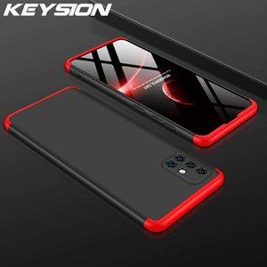 Keysion 360 Proteção Full 3 em 1 Caso Samsung A51 A71 A50 A70 A50 APROE Captura traseira à prova de choque para Galaxy S20 Ultra S10 Plus Note 10+