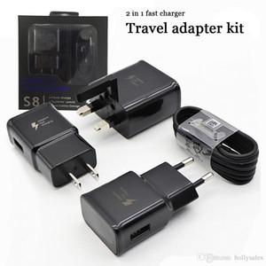 Качество 2 в 1 Устройство быстрого зарядного устройства 9V 1.67A 5V2A QC 2.0 Адаптер питания Быстрая зарядка док-станции ЕС Великобритания US Plug Stewel Настенное зарядное устройство адаптер с розничной упаковкой