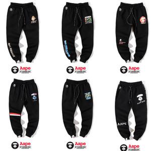 Осенью и зимой модели с талией и бархат случайные штаны потерять Харлан брюки прилив бренда и бархат спорта случайные прямые ноги брюки мужчины