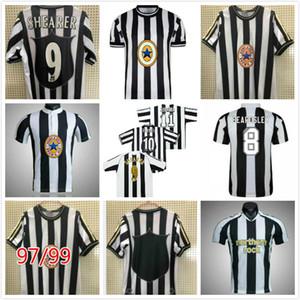 Rétro 95-97 05-07 Shearer Owen Ferdinand Ginola Asprilla Maillots de football de football vintage Camiseta Chemises homme Kits