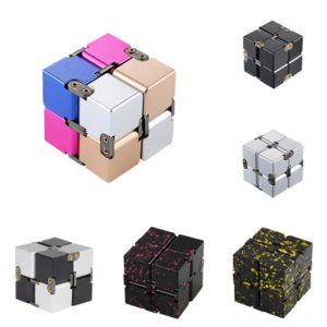 tgCuU Magic top Decompression cuberotating fingertip Rubik's order Infinite Cube Metal cube finger artifact Novelty and decompression '