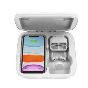 Горячие продажи УФ-сотовый телефон Shanitizer, беспроводное зарядное устройство, УФ-лампы Disinfector, дезинфекция Бесплатная доставка