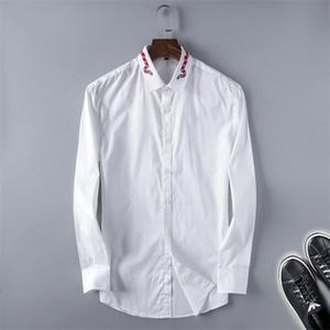 Chemise décontractée pour hommes pour hommes Homme Homme Mens manches longues Slim Fit Camisa Masculina Social Homme T-shirts Nouveau Mode Homme Chemise à vérifier D25