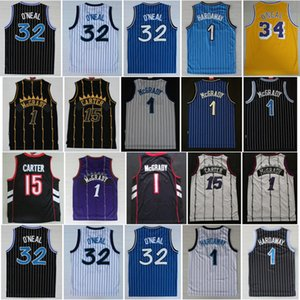Retro Vince 15 Carter Jersey Tracy 1 McGrady Penny 1 HARDAWAWAY Shaquille 32 O'Neal Jerseys Vintage 100% Stitching College Basketball Uniforme