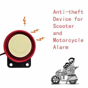 Sistema de alarma de la motocicleta Vespa universal anti-robo de seguridad del sistema de alarma de dos vías con motor de encendido por control remoto de coches de control 10fG #