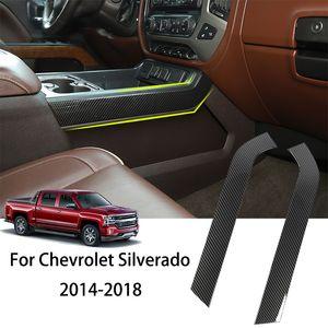 ABS Carbon Fiber Car Gear Shift Side Trim Accessories 1pc For Chevrolet Silverado 2014-2018 Auto Interior Accessories
