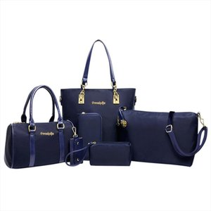 6pcs set Women Handbag Fashion Six Piece Set Shoulder Crossbody Bag Designer Handbag Tote Bag Women Clutch mochila G10