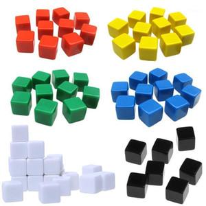 20 шт. 16mm Diace Square Cornal Blank Dice Diy Gravalable 6-Foking Poker Board Игра Учинение1