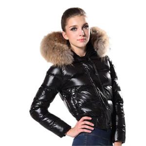 Jacket Mulheres Winter Jacket Parkas Mulheres Moda Inverno Casaco de Pele Casaco Doudoune Femme Preto Vermelho Inverno Casacos com capuz