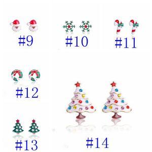 Charms Charms Orecchini Diamond Tree Orecchini Bells Snowflake Snowflake Orecchino in lega squisita Arritorio per l'orecchio Orecchini di Natale Xams Decor GWC3036