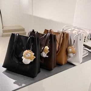 2021 Mode Hohe Kapazität Puppe Tasche Frauen Umhängetasche Einkaufen Tragetaschen Lady Casual Leder Eimer Tote Messenger Handtasche