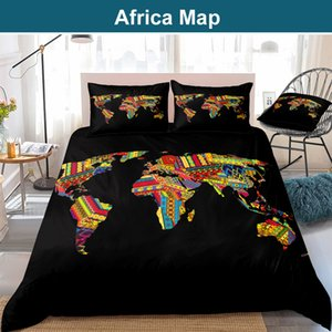 African Duvet Cover Sexy Lady Dress Patterns Print Bedding Set Woman Twin Full Queen King Size Bedclothes Map Home Decor